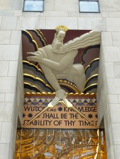 Art Deco: Wisdom, A Voice From the Clouds by Lee Oscar Lawrie - 30 Rockefeller Plaza, NY, NY