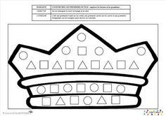 pour les PS : mettre les gommettes dans les bonnes formes géométriques Donner à chaque enfant une barquette avec des gommettes en forme de carré, triangle et rond. Il doit coller les gommettes au bon endroit dans la couronne pour la décorer. codage logique galette Illustrations DVD Marianne 2014 – www.crayaction.be [amazon_link asins='2745953559' template='ProductAd' store='lacldepsdemc-21' marketplace='FR' link_id='1f0a5f9a-cce1-11e6-8526-719d71beb8be'] de Yukari Maeda chez Milan ...