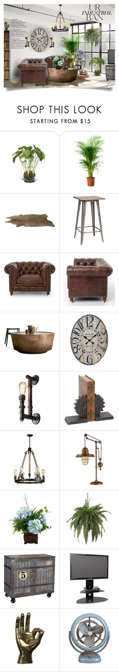 Industrial Home Decor by craftygeminicreation on Polyvore featuring interior, interiors, interior design, home, home decor, interior decorating, Pinch, Alphason, Zuo and Dimond