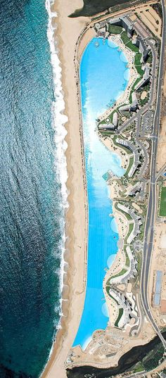 World's Largest Outdoor Pool – San Alfonso del Mar, Chile #dametraveler Este es una piscina mas grande en el mundo.