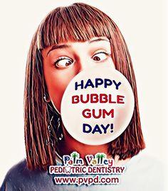 It's bubble gum day today! Remember, gums are good when they are sugar free.   Palm Valley Pediatric Dentistry   www.PVPD.com #kid #child #children #love #cute #sweet #pretty #little #fun #family #baby #happy #smile #dentist #pvpd #pediatricdentist #goodyear #surprise #surpriseaz #phoenix #phoenixaz #avondale #litchfieldpark #verrado #dentalcare #oralhealth #kidsdentist #childrendentist