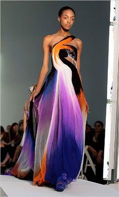 Fab dress by Rodarte Haute. I so love the colors!