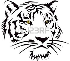 Japanese Embroidery Tiger Tiger Head Art Decal Vinyl sticker For Car Wall Laptop Window by - Tiger Stencil, Stencil Art, Animal Stencil, Stenciling, Tribal Tiger Tattoo, Tribal Art, Stencil Material, Art Premier, Wood Burning Patterns