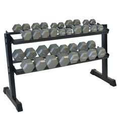 Full set of hex dumbbells
