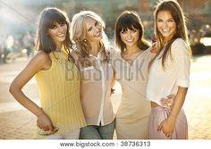 Happy female friends