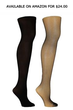 fb1978d5c Steve Madden Women s 2pk Fishnet and Solid Opaque Tights Sm42400 ◇  AVAILABLE ON AMAZON FOR   24.00 ◇ Steve Madden ladies 2PK black  fishnet opaque tight ...