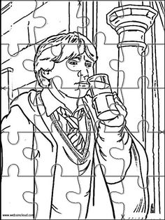 Printable Jigsaw Puzzles To Cut Out For Kids Harry Potter 16 Coloring Pages