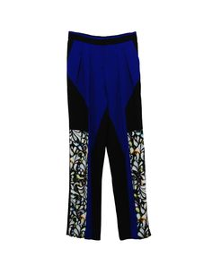 Peter Pilotto Freja trousers.  Composition: 67% viscose, 30% acetate, 3% elastane.  Lining: 42% cotton, 32% acetate, 26% viscose.