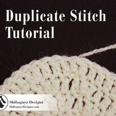 Duplicate Stitch Tutorial by Shibaguyz Designz