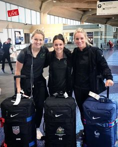 Lindsey Horan, Hayley Raso and Amandine Henry Amandine Henry, Portland Thorns, Football Soccer, Board, Sports, Team Usa