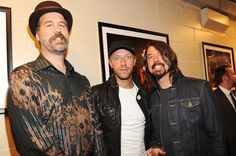 April 10:  Krist Novoselic, Chris Martin and Dave Grohl backstage of the 2014 Rock And Roll Hall Of Fame Induction Ceremony at Barclays Center of Brooklyn in New York City.