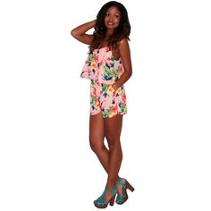 """""""Pretty In Paris Romper in Peach"""" romp around in this! Perfect for any island getaways this summer. #shopimpressions"""