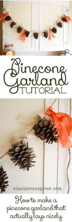 Cute and Simple Pinecone Garland Tutorial