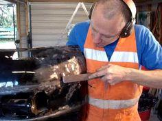 car dent repair training 3: metal finshing. - YouTube
