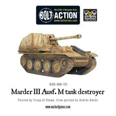 Bolt Action German Army Marder III BOX