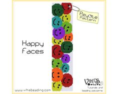 Happy Faces - Peyote pattern for bracelet - INSTANT DOWNLOAD pdf - 3 for 2 offer  with coupon codes - bp2