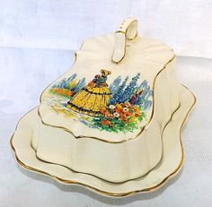 Lancaster and Sandland Crinoline Lady Covered Cheese Dish Cheese Dome, Cheese Trays, Cheese Dishes, Butter Cheese, Butter Dish, Old Fashioned Kitchen, Head And Heart, Cozy Kitchen, Lancaster