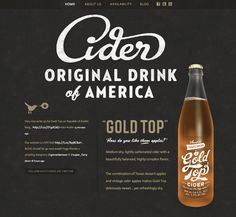 Love the logo type, love hte design in general, and want to try that cider. What an effective advertisement. http://austineastciders.com/