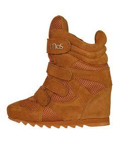 Look at this #zulilyfind! Almond Brown Soho Suede Wedge Ankle Boot by MoS Copenhagen #zulilyfinds