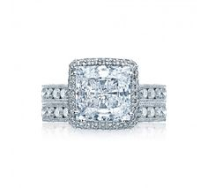 From our RoyalT Collection this unique princess cut engagement ring has 1 1/2 carats in the setting alone! This amazing design will sparkle with every beat of your heart. Our signature crescent silhouette design creates stunning profile to last a lifetime.
