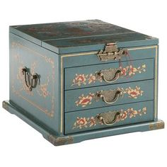 Teal Jewelry Box from Pier1 - most gorgeous jewelry box I have ever seen!