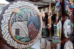 Influência indígena- artesanato em madeira