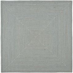 Zoomed: Safavieh 6' x 6' Blue Braids Area Rug