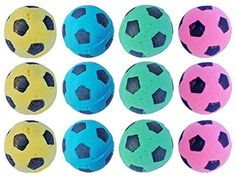 PETFAVORITES™ Foam Soccer Balls Cat Toys - Pack of 12 -- Click image to review more details. (This is an affiliate link and I receive a commission for the sales)