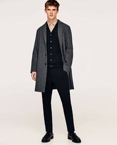 Image 1 of KNIT COAT from Zara