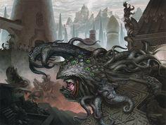 At The Mountains of Madness - Shoggoth by Yuji Kaida.