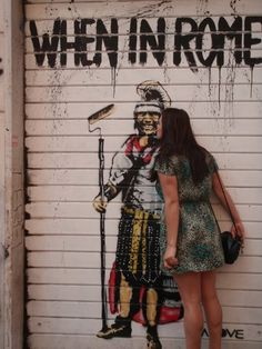 Street art in Rome.  http://www.gallivantgal.com/2012/02/rome-street-art-part-i.html