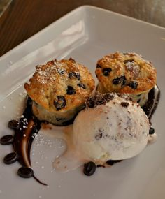 At Second Home Kitchen + Bar in Cherry Creek: chocolate bread pudding with brownie chunk gelato