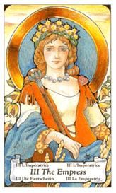 September 12 Tarot Card: The Empress (Hanson Roberts deck) These flowing energies are full of beauty and creativity, compassion and abundance