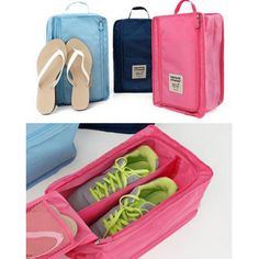 Free Shipping 4 colors Portable Shoes Travel Organizer Storage Bag Luggage Carrier Pouch Holder Nylon B999