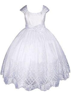 Love this one the best! AMJ Dresses Inc Girls White Flower Girl Communion Dress Size 6 AMJ Dresses Inc,http://www.amazon.com/dp/B006S8DP6Y/ref=cm_sw_r_pi_dp_X9k0sb11F7K8HVQJ