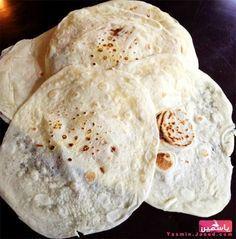 Saj bread طريقة عمل خبز الصاج في البيت بطريقة سهلة - مطبخ منال العالم
