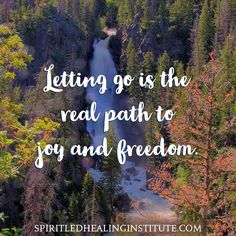 Letting go is the real path to joy and freedom.   www.SpiritLedHealingInstitute.com