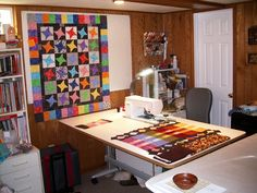 sewing room ideas | What does your sewing room/space/studio look like? - Quilters Club of ...