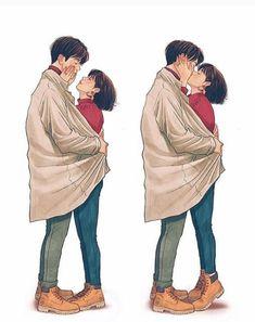 Gud morning diku 😽 ❤️ Have a wonderful day ♥ 🖤 love u thora sa 😹🙆♂️bachhi 👧🏻 😘 😚 ❤️ Cute Couple Comics, Cute Couple Cartoon, Couples Comics, Cute Couple Art, Anime Love Couple, Romantic Anime Couples, Romantic Manga, Cute Anime Couples, Cute Couple Drawings