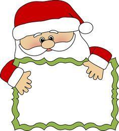 santa clip art  | Santa Sign Clip Art - santa peeking over a blank sign. This image can ...
