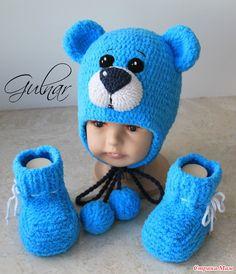 Здравствуйте, странамамочки! Вот такой заказик связался для малыша. Пряжа Alize baby softy (1,5мотка), на отделку YarnArt Jeans. Дочка была в восторге от этого мишки.