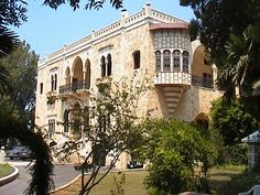 A grand and traditional Maronite home. Classic Architecture, Interior Architecture, Traditional Homes, Mountain Homes, Stone Houses, Beirut, Old Houses, Middle East, Home Deco
