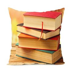 Vintage Book Library Collection Art Zippered Throw Pillowcase