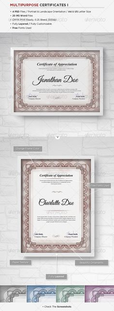 Printable Certificate Of Appreciation Template  Certificate Of
