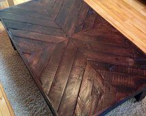 Pallet coffee table,reclaimed wood coffee table,rustic coffee table,end table,pallet furniture,furniture,chevron,rustic decor,table,shelf