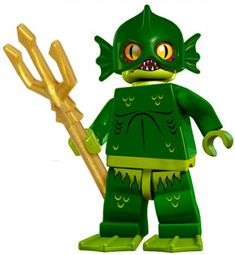 Lego mini figure sea monster. I need a tiny army of these guys.