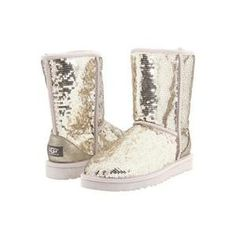Sparkly white uggs❤️