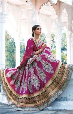 #Pakistani #lehengacholi with #heavywork #designs for wedding reception #designersandyou