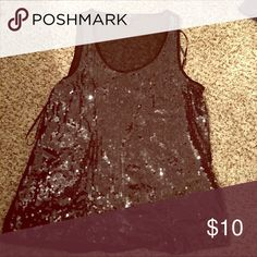 a6b085aa0dd720 Forever21 black sequins tank Forever21 sequins tank Forever 21 Tops Tank  Tops
