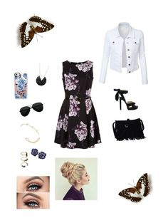 """""""Spring Strikes"""" by fashsionqueen on Polyvore featuring LE3NO, Jennifer Behr, Jimmy Choo, Noir Jewelry and Casetify"""